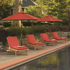 Chaise Lounge with Cushion (Set of 4)