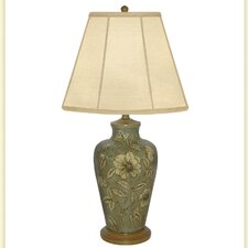 """Expose/Flower Hand Painted Porcelain 30"""" Table Lamp"""