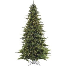 Ashmore 10' Green Artificial Christmas Tree with 1150 Smart String Lighting with Stand
