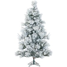 Snowy Pine 10' White Aritificial Christmas Tree with Stand and Flocked Branches