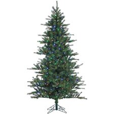 Southern Peace Pine 10' Green Artificial Christmas Tree with 1150 LED Multicolor String Lighting with Stand