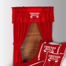 NBA Chicago Bulls Rod Pocket Window Treatment Set (Set of 2)