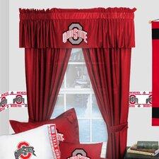 NCAA Ohio State Buckeyes Rod Pocket Window Treatment Set (Set of 2)