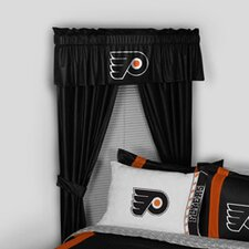 NHL Philadelphia Flyers Rod Pocket Window Treatment Set (Set of 2)