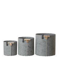 3-Piece Composite Pot Planter Set