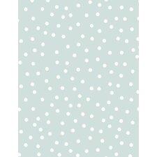 10m L x 53cm W Polka Dot Roll Wallpaper