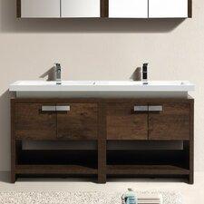 Double vanities you 39 ll love wayfair for Levi 29 5 single modern bathroom vanity set