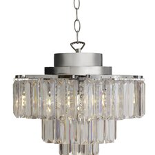 Cascading 3-Light Crystal Chandelier
