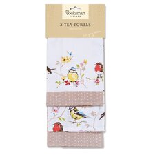 Dawn Chorus 3-Piece Tea Towel Set