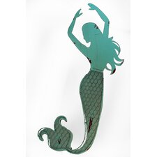 Blue Mermaid with Both Arm Up Wall Décor