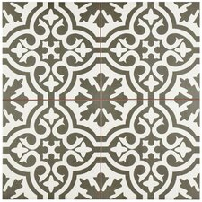 "Alameda 17.63"" x 17.63"" Ceramic Patterned/Field Tile in Gray"