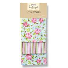 Vintage Floral 3-Piece Tea Towel Set