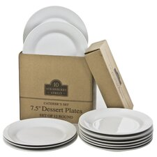 "7.5"" Catering Packs Round Salad/Dessert Plate (Set of 12)"