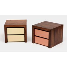 SQM 2 Drawers Nightstand by ARTLESS