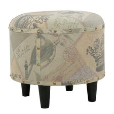 Alchemist Round Fabric Ottoman by Red Barrel Studio