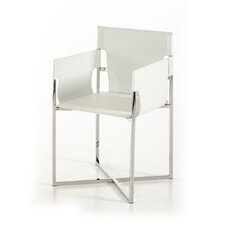 Wesley Modern Eco-Leather Arm Chair