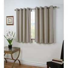 Louie Solid Blackout Thermal Grommet Single Curtain Panel