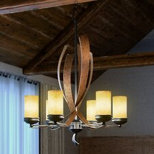 Recycled Aizen 6-Light Shaded Chandelier