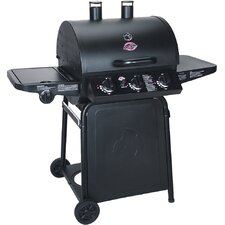 Pro 3-Burner Propane Gas Grill with Side Shelves