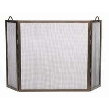 Twisted Rope Wrought Iron Fireplace Screen