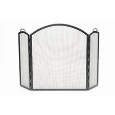 Arched 3 Panel Wrought Iron Fireplace Screen