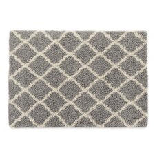 Ultimate Moroccan Trellis Gray Shaggy Area Rug