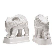 Dolomite Elephant Bookends (Set of 2)