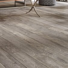 "Antigua 7"" Engineered Oak Hardwood Flooring in Silver"