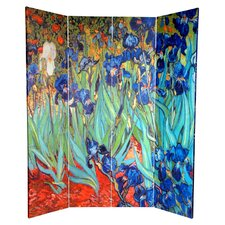 70.88 x 63 Works of Van Gogh 4 Panel Room Divider by Oriental Furniture