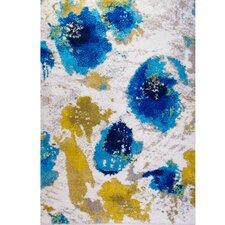 Greta White/Blue Area Rug