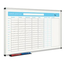 Planner Wall Mounted Whiteboard, 60cm H x 90cm W