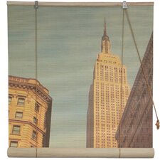 Empire State Building Bamboo Roller Blind