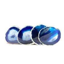 Blue Agate Coasters (Set of 4)