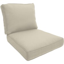 Double-Piped Outdoor Lounge Chair Cushion