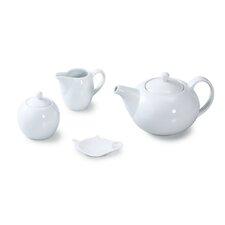 4 Piece Porcelain Coupe Tea Set