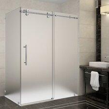 Langham 60 x 35 x 75 Frameless Sliding Shower Enclosure by Aston