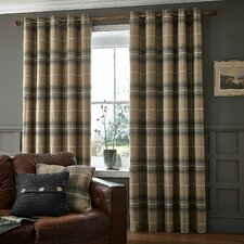 Brushed Heritage Check Curtain Panel
