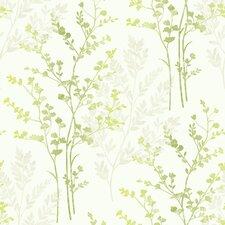 Fern Motif 10.05m L x 53cm W Roll Wallpaper