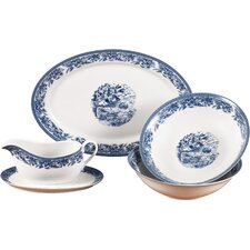 5 Piece Porcelain Serving Set in Blue