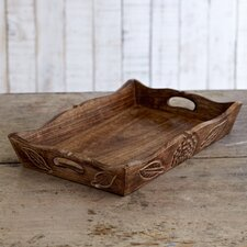 Fair Trade Natural Mango Wood Tea Tray