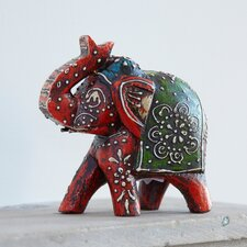 Almirah Fair Trade Antique Style Elephant Figurine