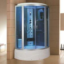 42 x 42 x 86.2 Sliding Door Steam Shower Enclosure Unit by Eagle Bath