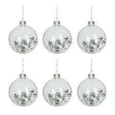 6 Piece Round Ball Ornament Set (Set of 6)