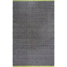 Estate Hand-Woven Black Indoor/Outdoor Area Rug