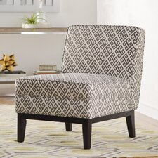 Dareios Gray Slipper Chair by Mercury Row