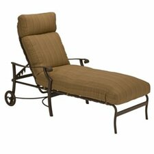 Cool montreux chaise lounge with cushion metal patio - Chaise bar metal ...