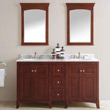 Arezzo 60 Double Vanity Set with Mirrors by Vinnova