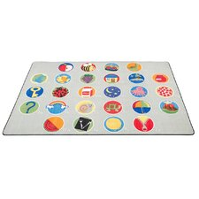 A-Z Activity Seating Gray Area Rug