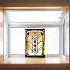 Stained Glass Geometric Window Panel
