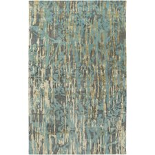 Zephyr Hand-Tufted Blue Area Rug